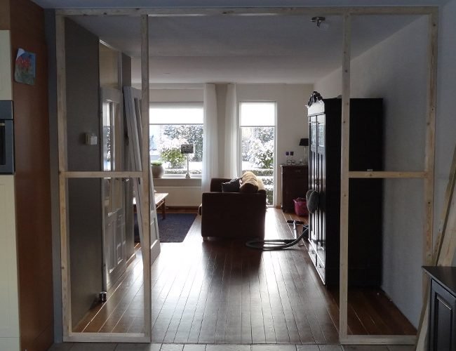 Suitedeuren Plaatsen Tussen Keuken En Woonkamer