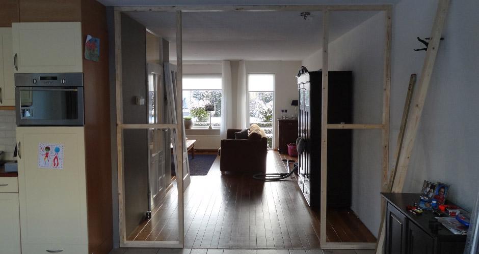Plaatsen suitedeuren otten timmerwerk renovaties van kwaliteit - Scheiding kamer panel ...
