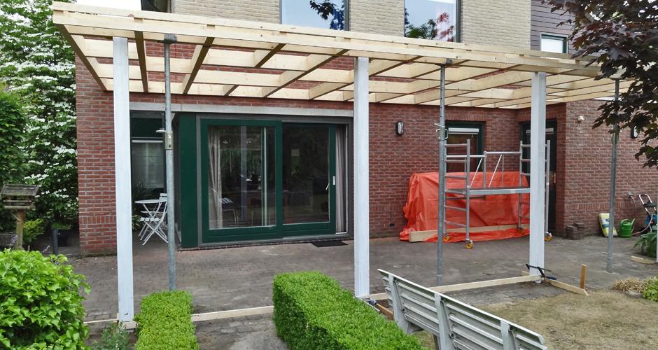 Terrasoverkapping almelo otten timmerwerk renovaties van kwaliteit - Een terras aan het plannen ...